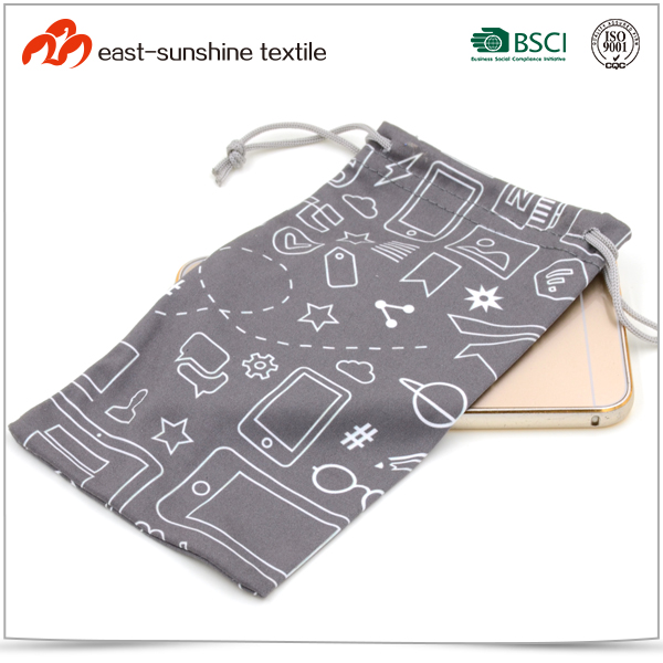 Full Color Printed Microfiber Mobile Phone Pouch