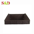 100% handmade food grade plastic container vegetable display woven rattan basket