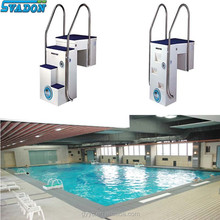 Wall-hung pipeless swimming pool integrated fiberglass filter
