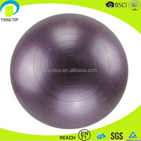pro fitness inflatable gymnastic ball with pump