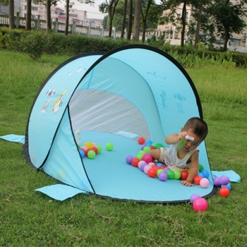 190T polyester baby pop up beach tent