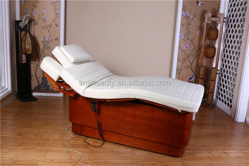 2015 lma luxe 3 moteurs automatique table de massage cosm tique lectrique lit en bois massage - Lit de massage electrique ...