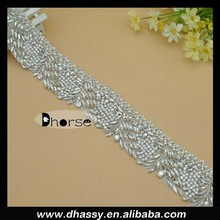 Bling stone crystal rhinestone trimming fancy belt for garment