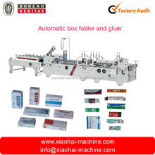 Automatic carton folder and gluer machine