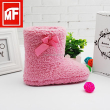2016 new soft sole cheap high quality pink snow boots