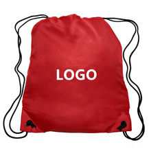 2018 High Quality Custom Logo Printed Recyclable Polyester Material Sports Gym Bag