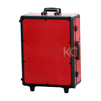 Professional beauty fashion aluminum makeup case with stand legs, lights decorative beauty box with mirror