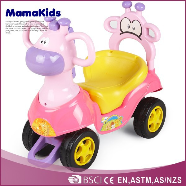 Hot sale design children push car 2015 plastic custom kids toy ride on cars