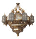 Mosque chandelier iron light fitting big project hanging lamp antique brass lamps