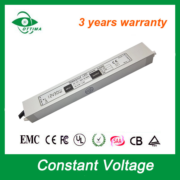 12v 30w constant voltage led transformer 5050 smd led strip power supply