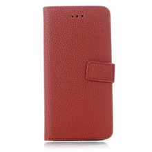 Lichee pattern phone case PU leather case flip leather holster for iphone6
