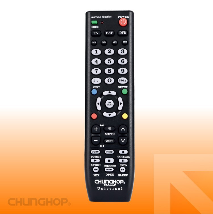 RM-80E Universal Remote Control TV/SAT/DVD 3 in 1 Infrared remote control