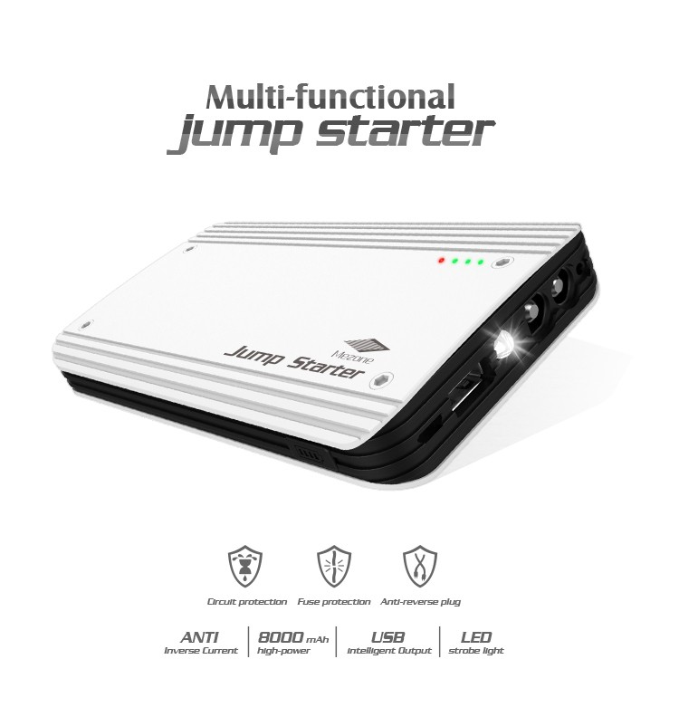 Auto mobile power booster multi-function mini car jump starter