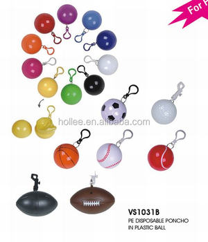 Promotional Disposable Raincoat Ball, Rain Poncho In Balls For Gifts Wholesale