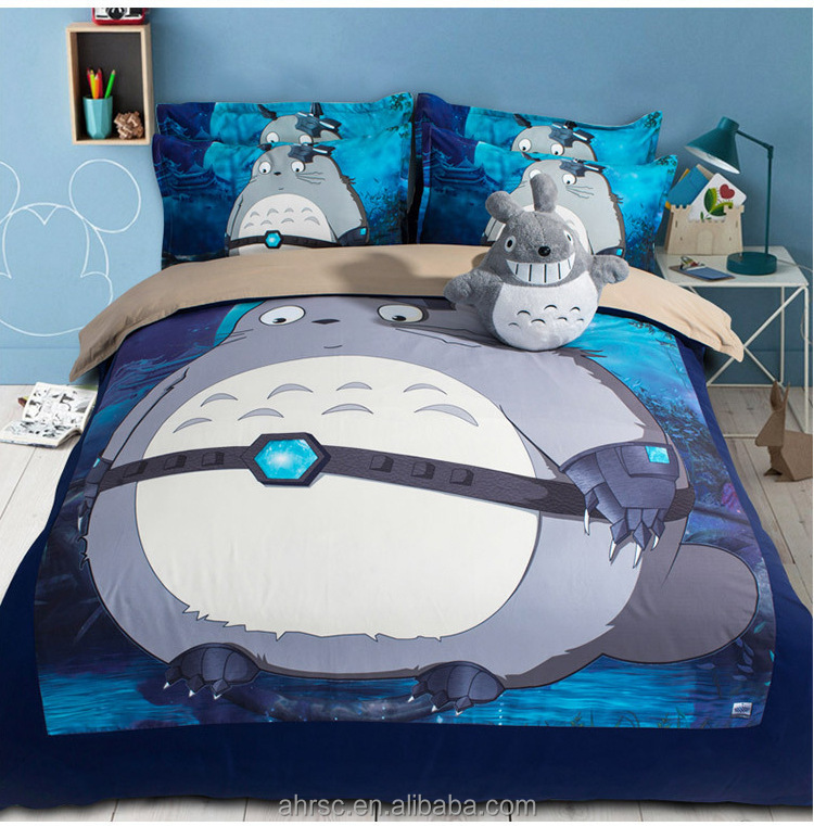 comforter cover bed sheet pillow case 3d bedding 4pcs set for kids