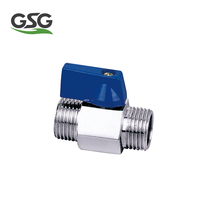 "1/2"" VM502 Polished and forged brass Mini Ball Valve Female/male Thread"