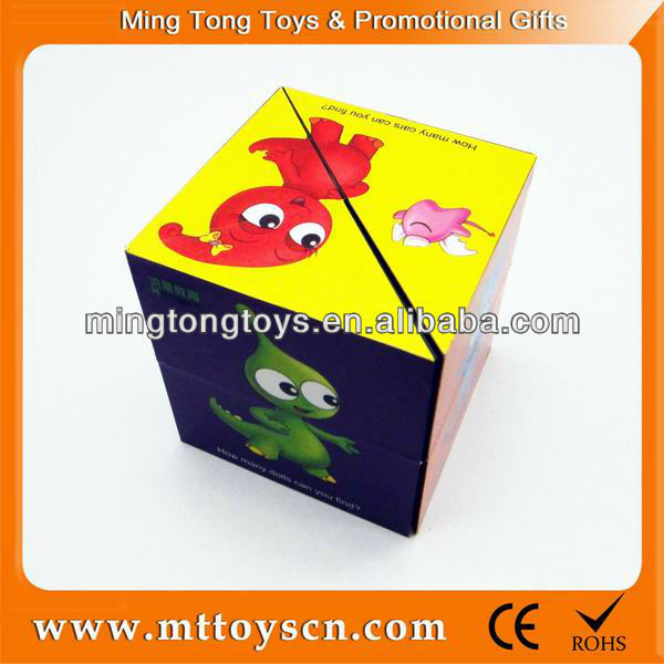 Folding educational advertising customized logo magic cube