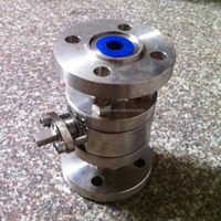 API 3 piece stainless steel ball valve with handle