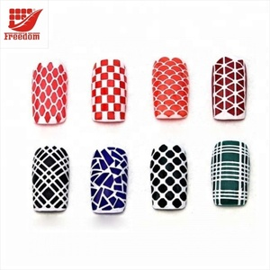 Customized Cute Easy Nail Art Vinyls Stencils Nail Stickers