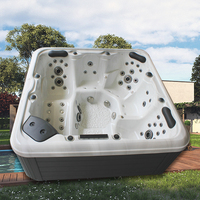 The Moment Best Material and Steps Outdoor Balboa System Whirlpool SPA