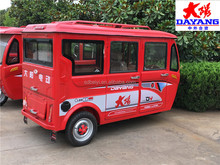 Electric Vehicle Sightseeing Bus 14 Seats Passenger Car