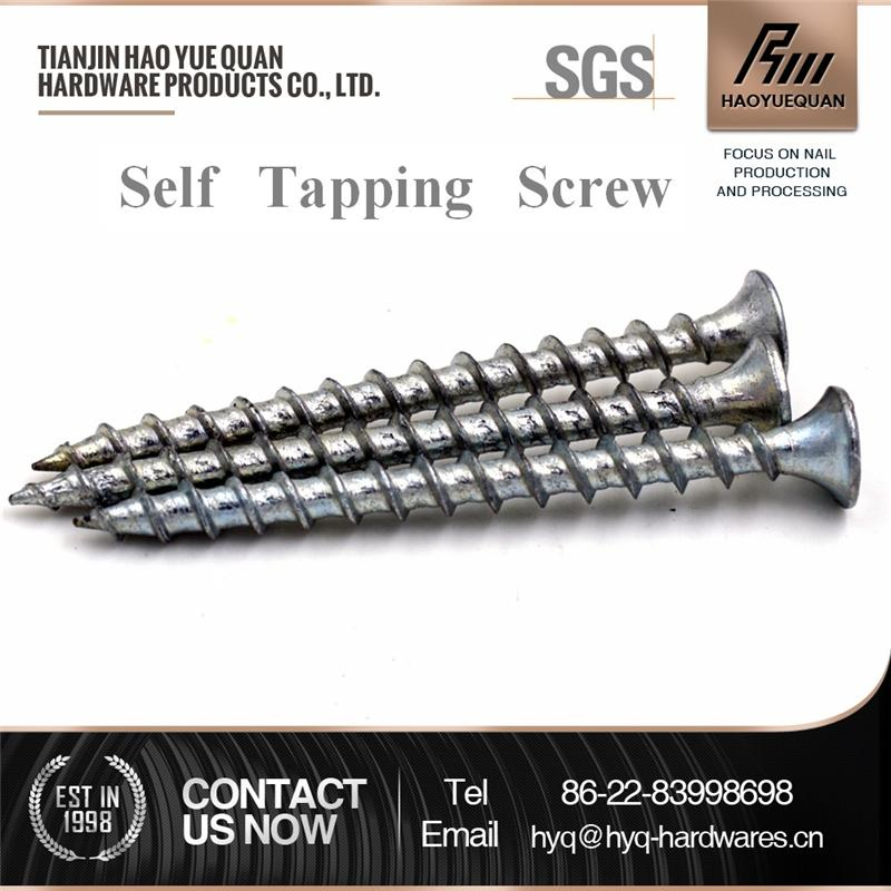 Hot selling wood screw counter sunk head pan head type self tapping screw with great price