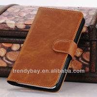 Fashion style for samsung n7100 stand leather case