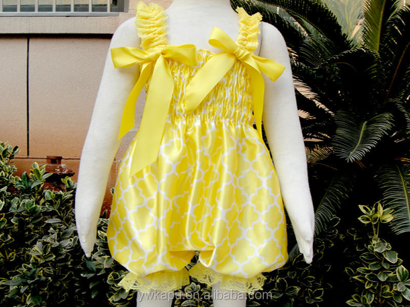 Hot sale baby product high quality plain yellow baby rompers
