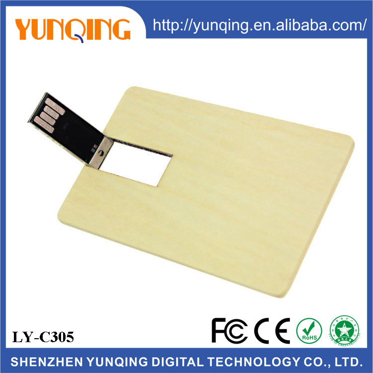 Wafer Usb Pen Drive Card Business Credit Card Usb Flash Drive Wooden