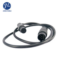 Popular Widely 26# 9 Pin Mini Din Audio Cable For SD OEM Rear Vision Camera System