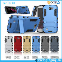 Factory Price Hard PC TPU Hybrid Iron Man Phone Cases Cover For LG X Style/ X Power Kickstand Case