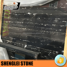 black marble silver dragon for marble handrail, marble slabs,black dining table marble