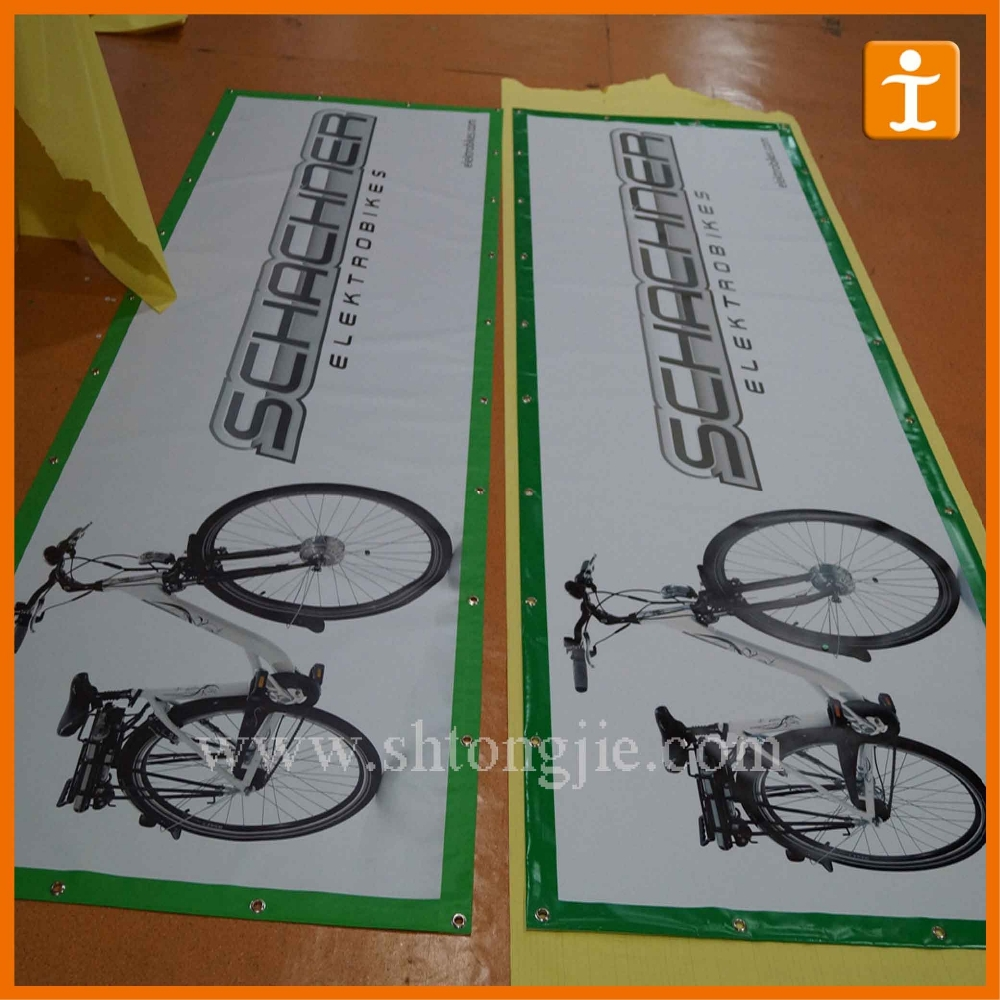 Advertising PVC Vinyl Banners for Bike Discount Promotion