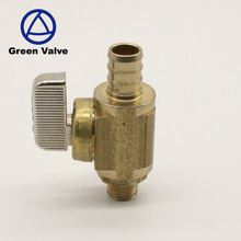 Green Guten-top nickel plating factory manufacture forged brass pex pipe gas ball valve
