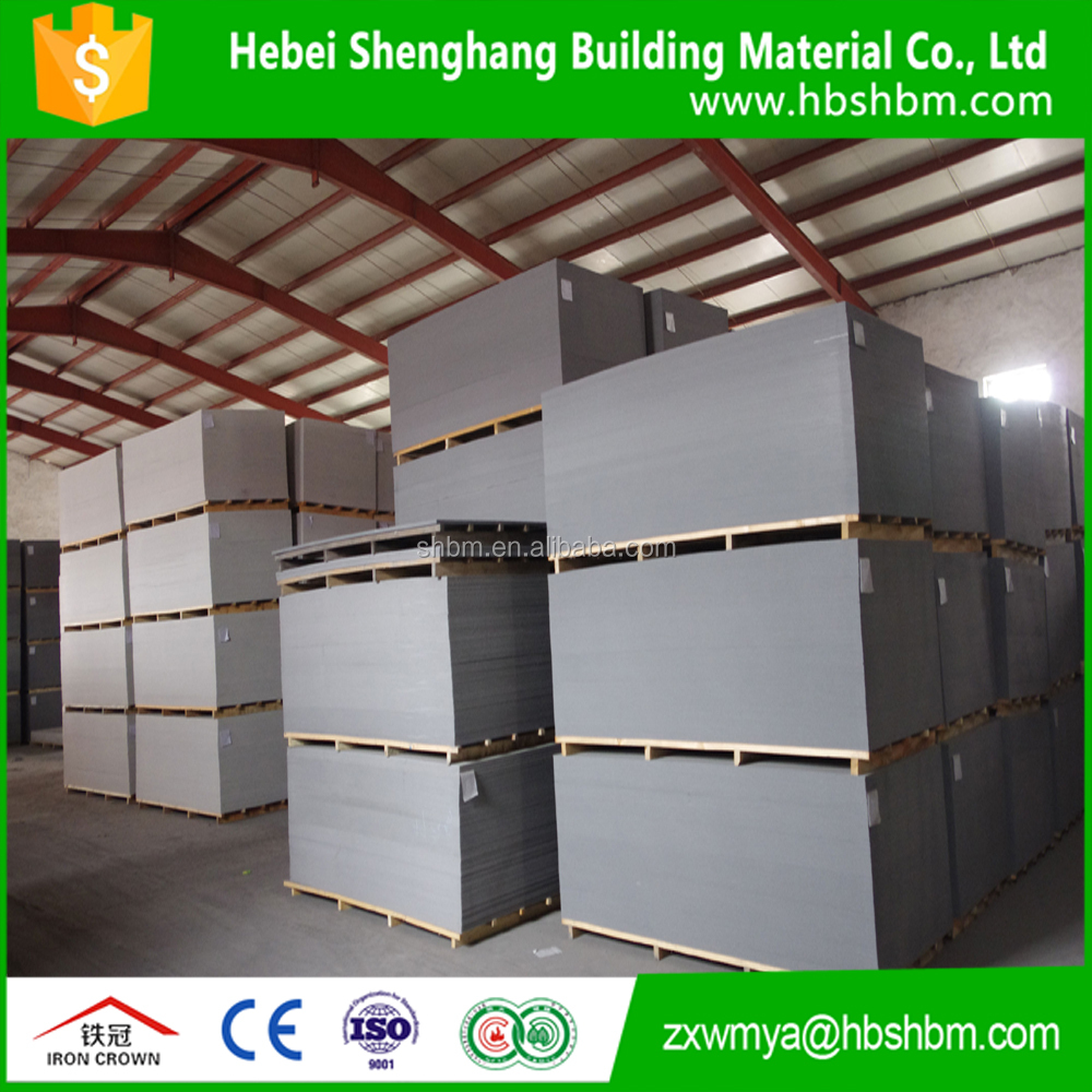High Quality Fire rated fiber cement board Price/Exterior cladding wall panel MgO board
