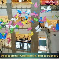Customize commercial shopping center hotel spring summer large butterfly decoration