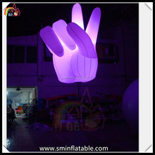 fashion hand advertising inflatable led light stand balloon laptop stands with lightf for activities