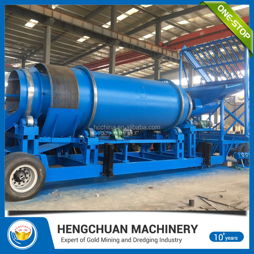 China Supplier Customized Mobile Gold Scrubber Trommel For Sale