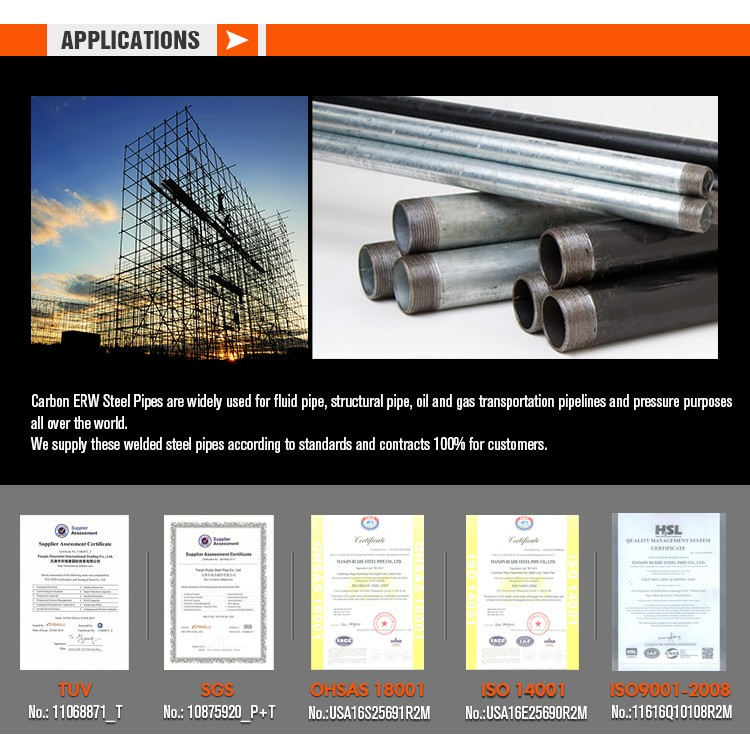 carbon erw steel pipe applications