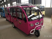 China popular closed cabin electric passenger tricycle taxi/electric tuk tuk bajaj for sale