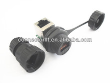 best price 90 degree ip67 rj45 male to female connector