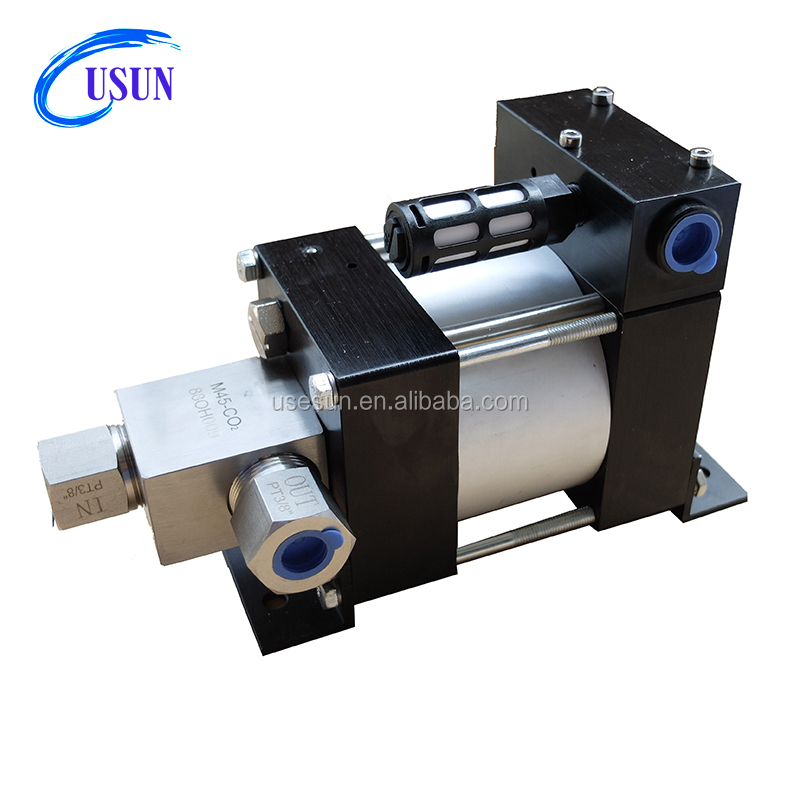 Hot sale USUN brand Model: M45-Co2 360 Bar output Portable Mini pneumatic driven liquid Co2 transfer pump for charging tanks