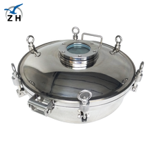 Sanitary stainless steel tank parts circular manhole cover