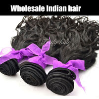 "Indian remy virgin hair extension,romantic curl, 1 pc lot, 20"", natural color"