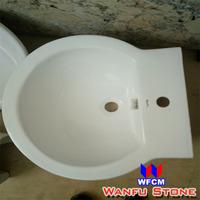 Sanitary ware ceramic under counter bathroom rectangular hand sink