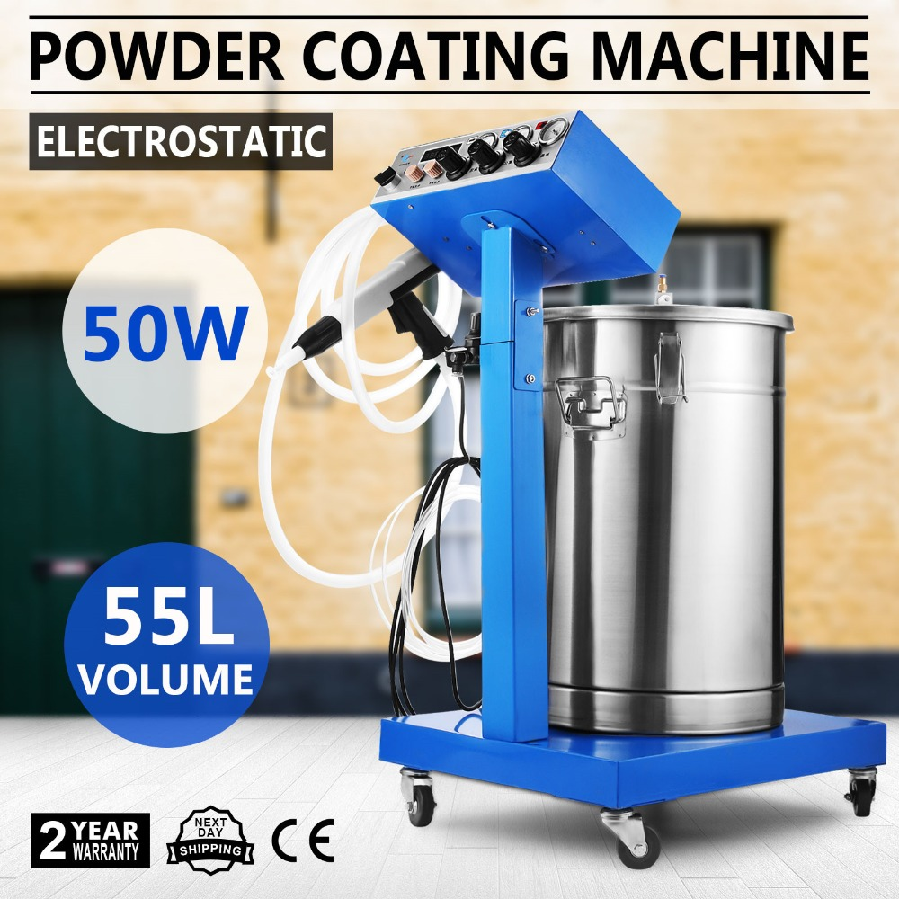 Mophorn Powder Coating Machine 50W 45L Capacity Electrostatic Powder Coating Machine Spraying Gun Paint 450g/min WX-958 Powder C