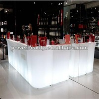 cheap glowing corner bar furniture for the home with remote control
