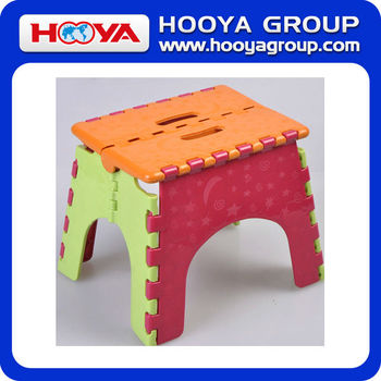 21.5*18.5*16.5CM Colorful Hand-held Plastic Foldable Stool
