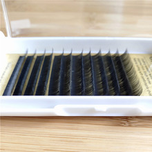 korea Pbt Synthetic silk Material split tip ellipse <strong>flat</strong> eyelash extension , premium eyelash extension