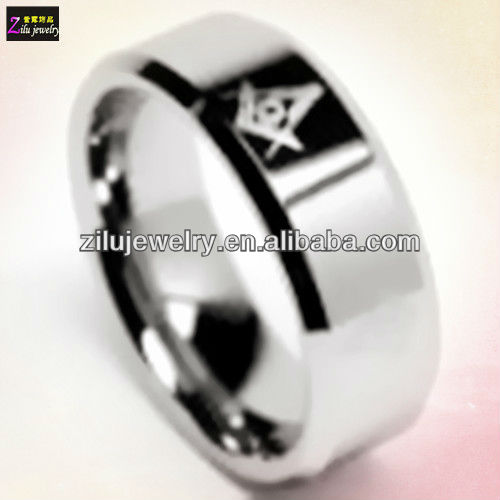 Wholesale shiny finish stainless steel masonic knights templar ring (ELBR0446)